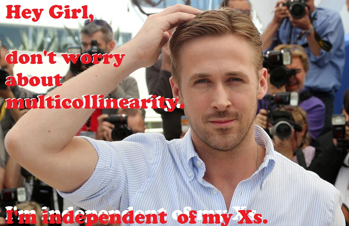 Hey girl, don't worry about multicollinearity, I'm independent of my x's