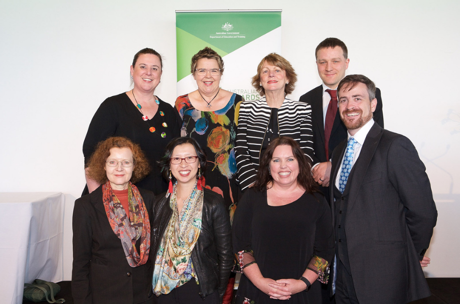 Group of UTS academics with DVC Shirley Alexander and VC Attila Brungs at the event.