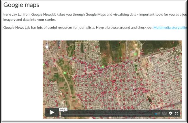 snapshot of google maps screen