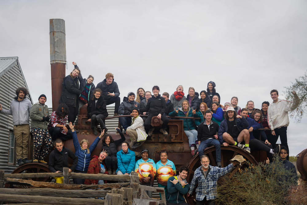 the group of students with the tour guides Dale and Dot