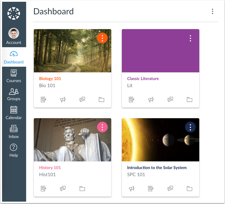 An example of a Dashboard in Card View