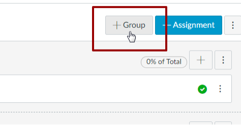 Screenshot of the add new group button