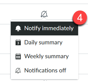 Screenshot with the Notify immediately option.