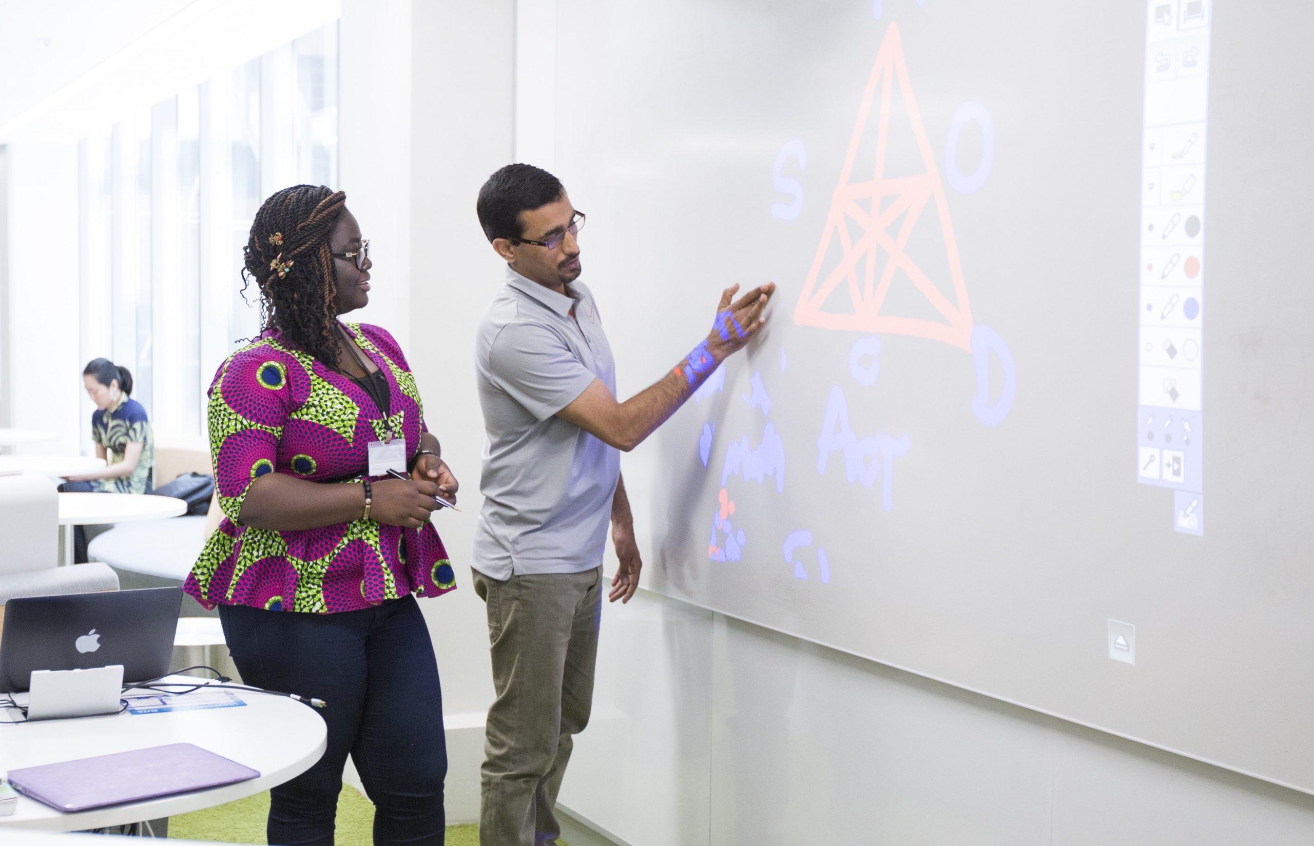 learning designer assisting academic